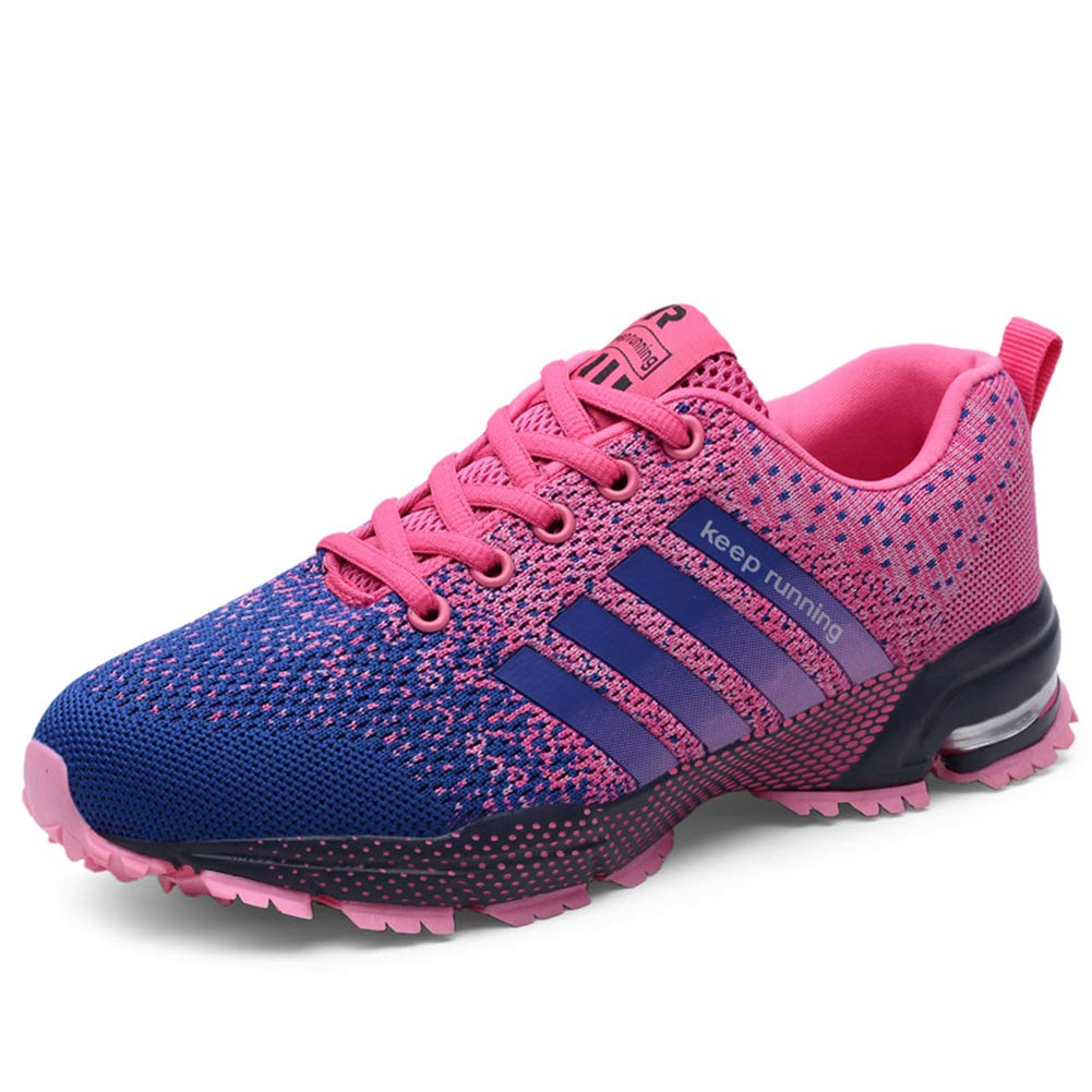 KUBUA Womens Running Shoes Trail Fashion Sneakers Tennis Sports Casual Walking Athletic Fitness Indoor and Outdoor Shoes for Women F Purple Women 5 M US/Men 4 M US