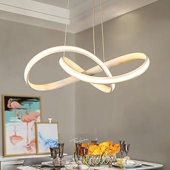 LED Minimalismus Kronleuchter Modern Weiß Eisen Aluminium ...