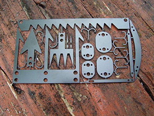 22 in 1 Credit Card Survival Tool/Multitool – Great for Survival Kit/Gear, Camping Gear, Hiking, Fishing Gear, Survival…