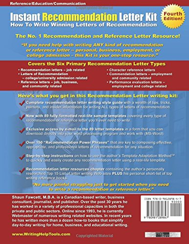 Instant Recommendation Letter Kit - Fourth Edition: How To Write