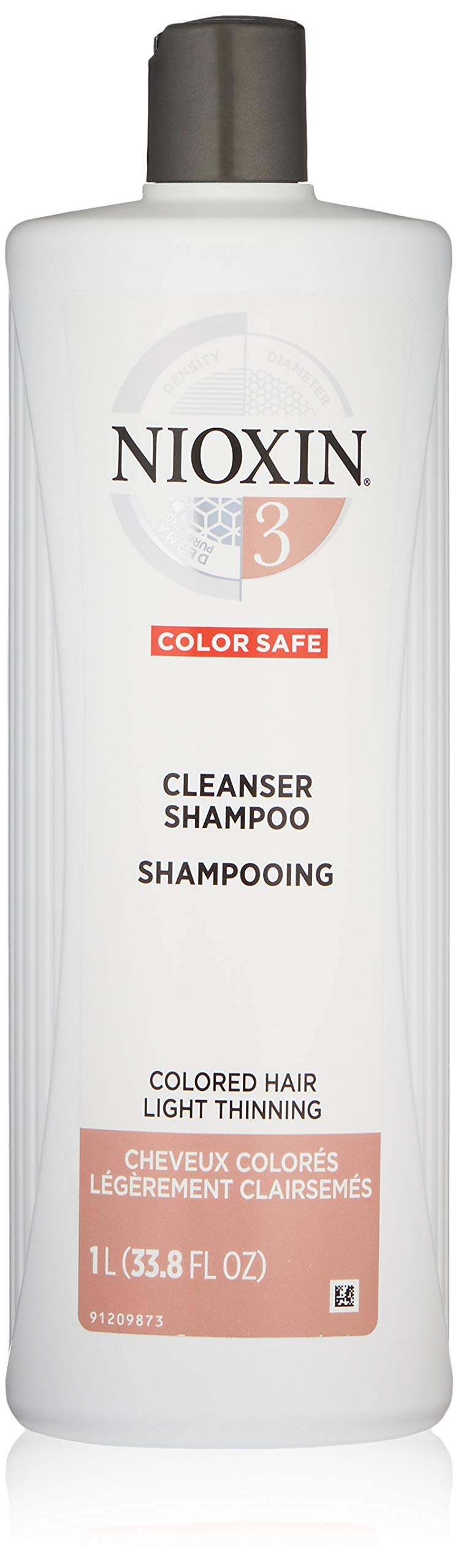 Nioxin Cleanser Shampoo System 3 for Color Treated Hair with Light Thinning, 33.8 Ounce by Nioxin