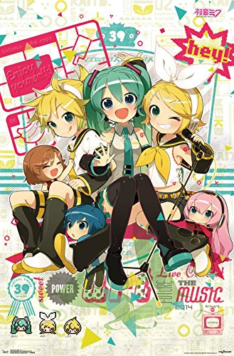 "Trends International Hatsune Miku Hey Wall Poster 22.375"" X"