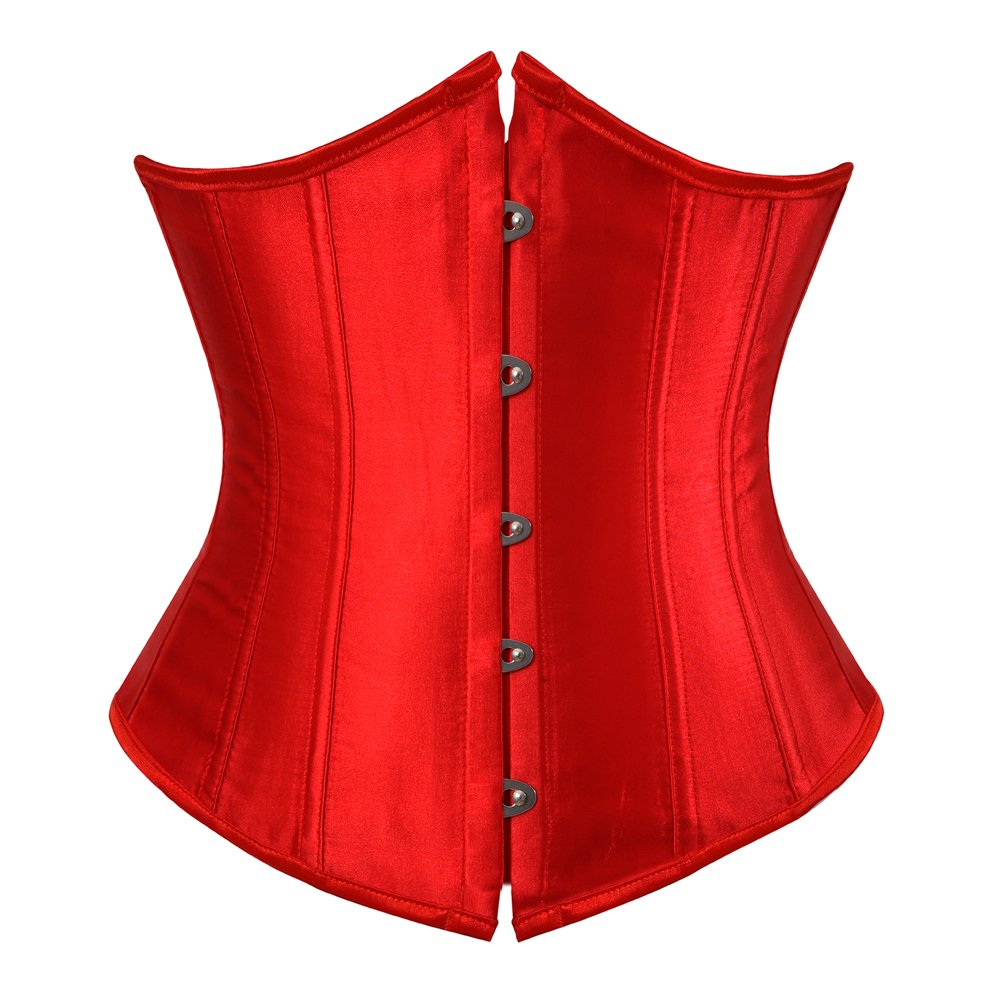 Grebrafan Women's Lace up Boned Brocade Waist Training Underbust Corsets Plus size CAZS-7055