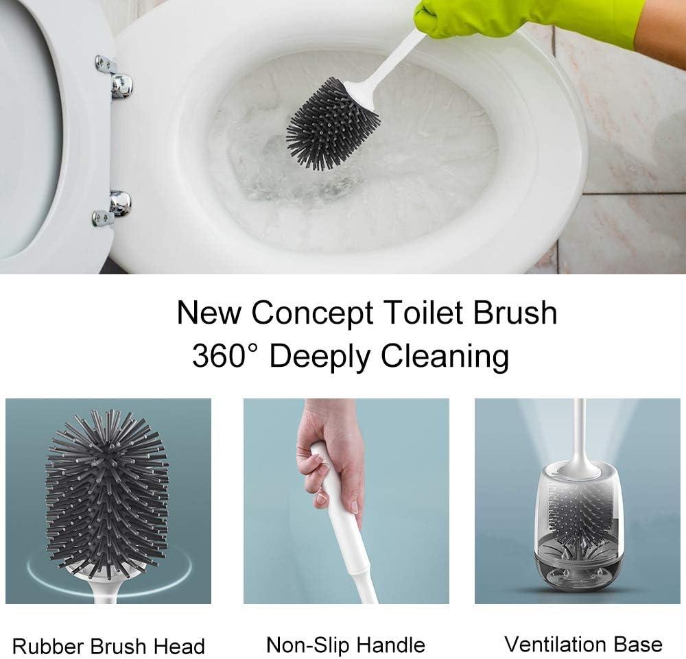 Elezenioc Wc Bürste,Silikon Toilettenbürste Set,Klobürste Garnitur