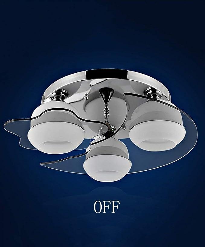 Lámpara de techo de cristal simple y moderno salón dormitorio ...