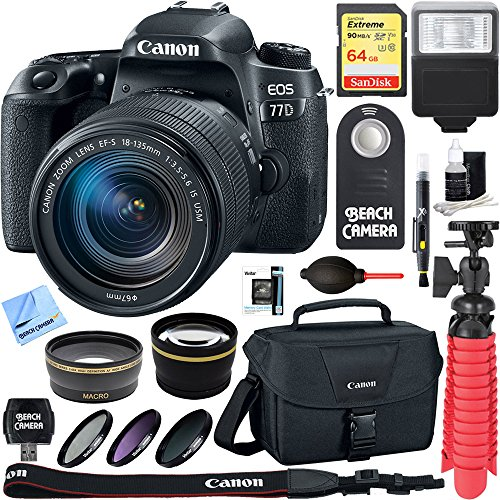 Canon Right Angle Viewfinder (Canon EOS 77D 24.2 MP Digital SLR Camera with EF-S 18-135mm IS USM Lens + 64GB SDXC Memory Card + Accessory Bundle)