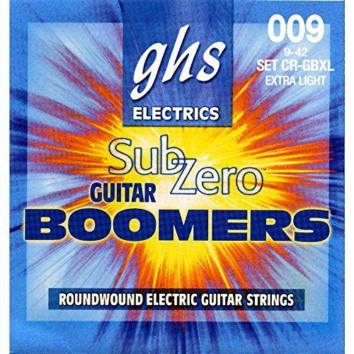 GHS Sub-Zero Guitar Boomers Electric Guitar Strings - Extra Light (Standard) by Ghs