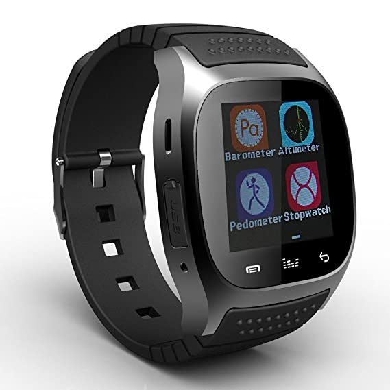 760e244bf4b2 E Support Black M26 Bluetooth Smart Wrist Watch Sync Phone Mate For IOS  Android iPhone Samsung  Amazon.com.mx  Electrónicos