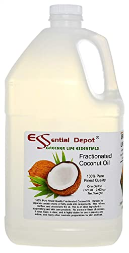 Coconut Oil – Fractionated – MCT Oil – 1 Gallon – 128 oz – Food Grade – safety sealed HDPE container with resealable cap