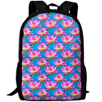 3943b3ca66d9 Amazon.com | Beautiful Lotus Print Custom Casual School Bag Backpack ...