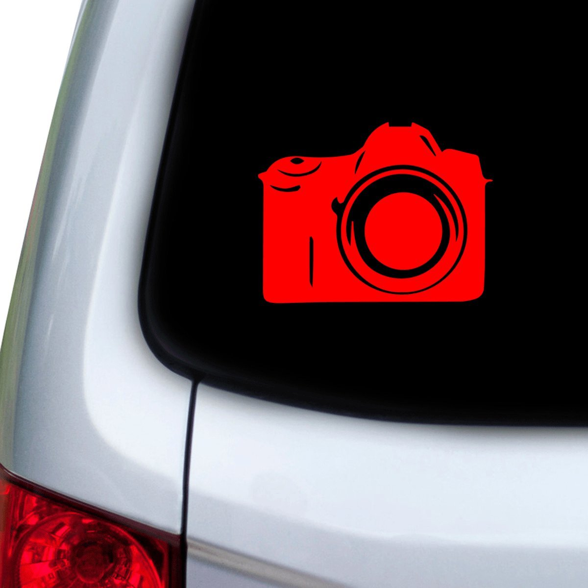 StickAny Car and Auto Decal Series DSLR Sticker for Windows Hoods Red Doors