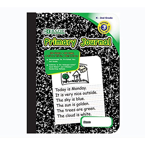 Primary Journal Marble Composition sheets