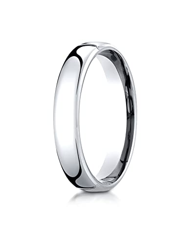 10K White Gold 4.5mm European Comfort-Fit Wedding Band Ring for Men ... 8d6b70ff4
