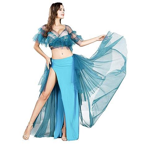 ROYAL SMEELA Trajes de Danza del Vientre Tops Faldas Conjunto de ...