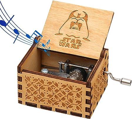 Funmo - Puro Mano clásico Star Wars Caja de música Caja de música de Madera a Mano artesanías de Madera Creativa Mejores Regalos: Amazon.es: Hogar