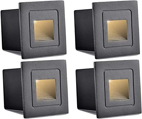 10 x 3W LED Square Walkway Step Stair Wall Corner Light Indoor Lamp Warm White