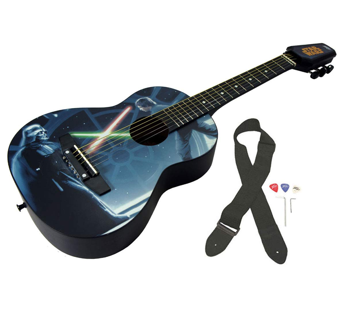 Peavey Star Wars Classic Luke vs. Vader 1/2 Size Student Acoustic 18 Fret First Beginner Guitar by Peavey