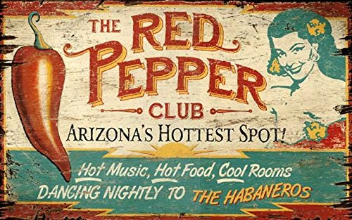 Red Peppers Sign - Pepper wall art decor