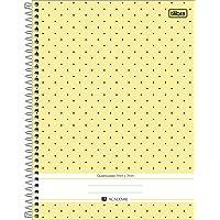 Caderno Espiral Universitário Quadriculado 0.7 com 96 Folhas Academie Tilibra