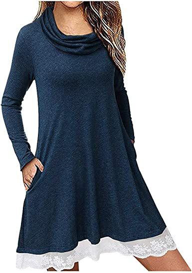 Yoyorule Summer Clothes-Top/&Dress Womens O-Neck Solid Short Sleeve Lace Patchwork Sleeve Loose Tops Blouse