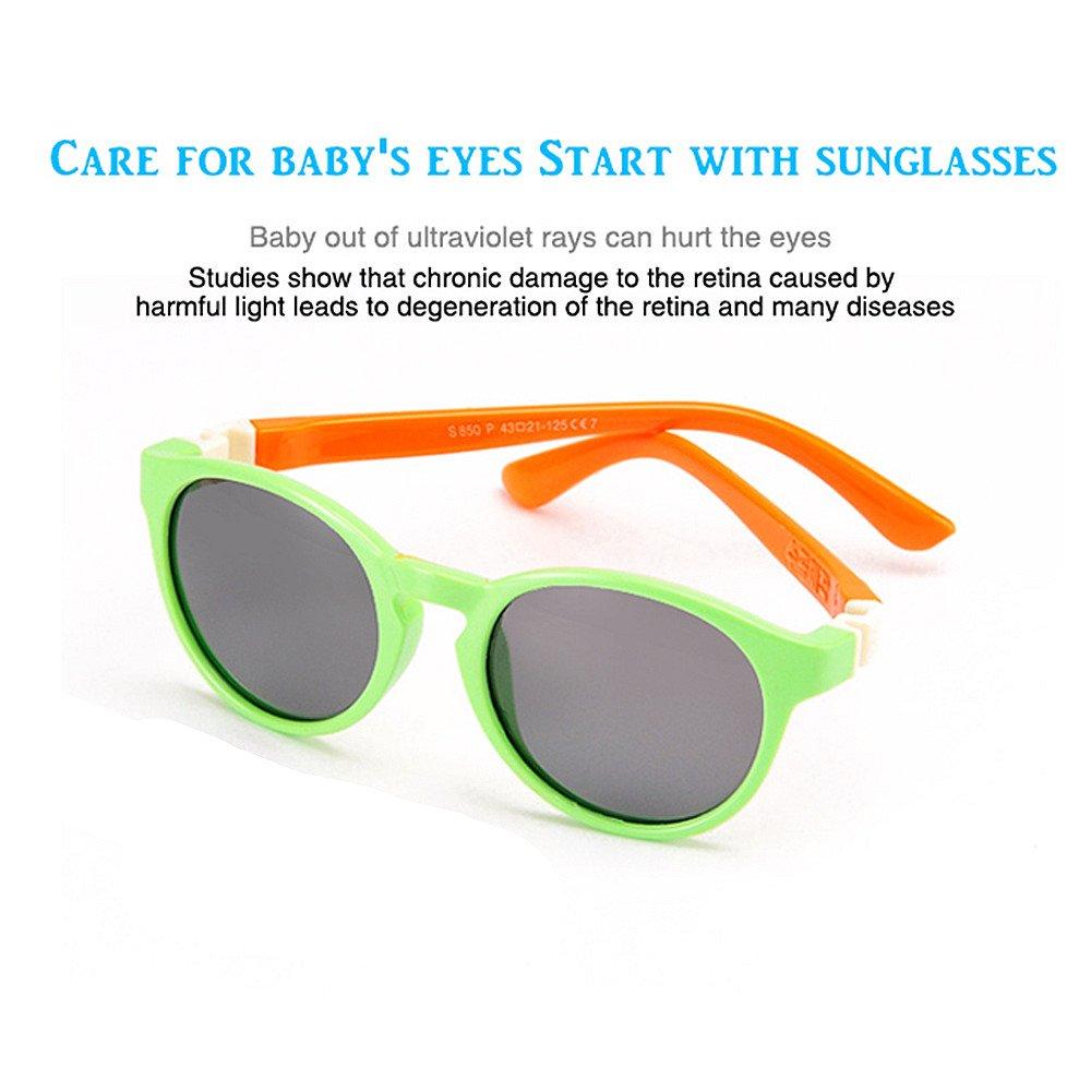 Peggy Gu Retro Forma Redonda Niños y Niñas Gafas de Sol polarizadas Flexibles con Protección UV Caso Niños de 3 a 10 Años (Color : Amarillo): Amazon.es: ...