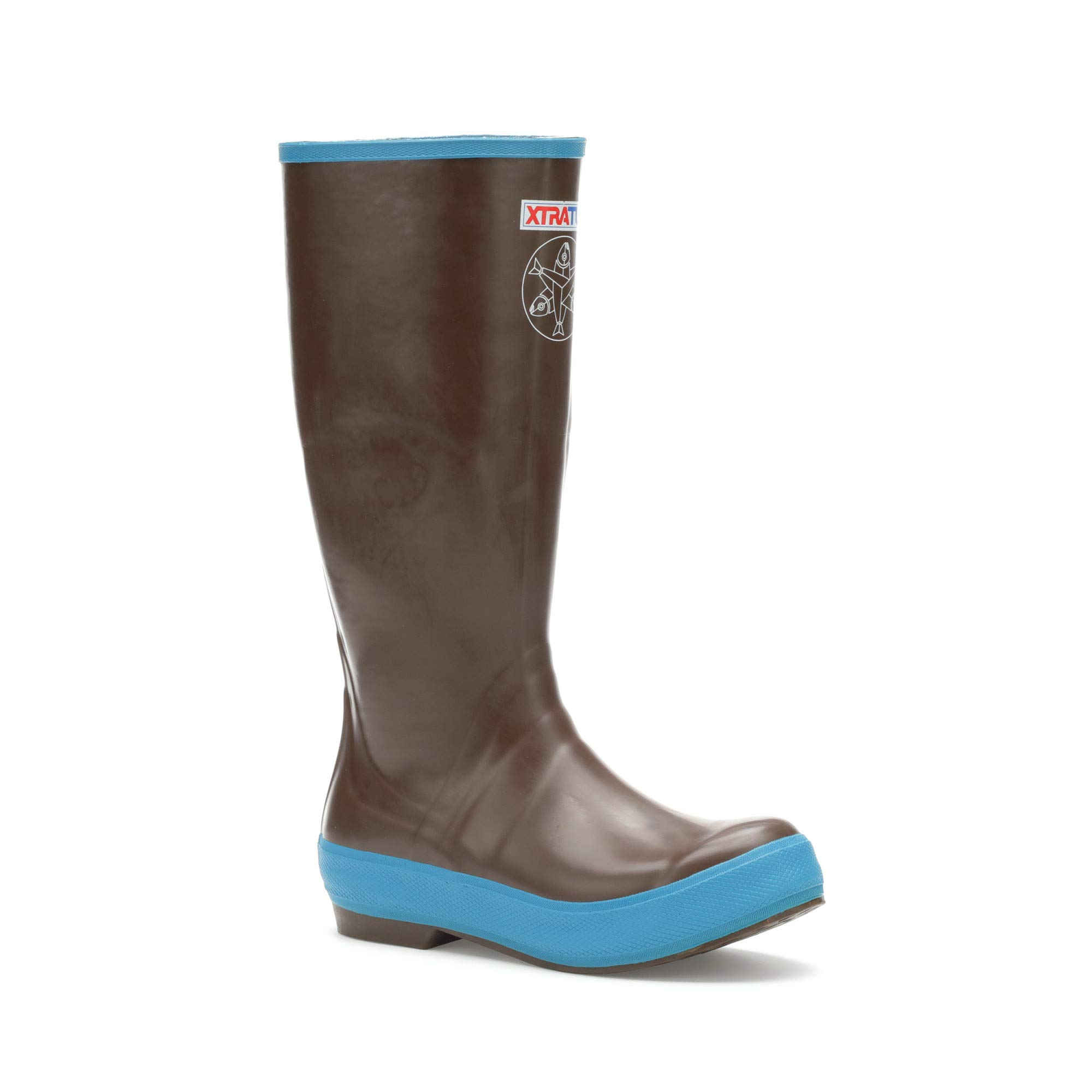 XTRATUF Women's Salmon Sisters 15 In Legacy Boot (25512), Choco/Blue W/Whale Print, 8 by Xtratuf