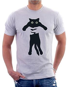 Tshirteria - Camiseta con dibujo de gato, gracioso, todas las tallas, para hombre y mujer, gris, Extra Large: Amazon.es: Deportes y aire libre