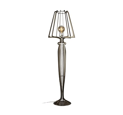 Lámpara de pie lámpara de pie Minerva Arti e Mestieri Metal ...