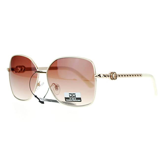 Amazon.com: CG Eyewear Diva Metal Frame Rectangular Butterfly ...