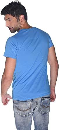 Creo Green Beard Skull T-Shirt For Men - L