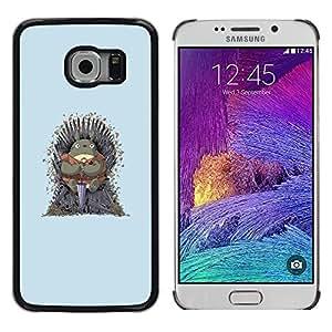 Caucho caso de Shell duro de la cubierta de accesorios de protección BY RAYDREAMMM - Samsung Galaxy S6 EDGE - Vecino Totoro Tronos
