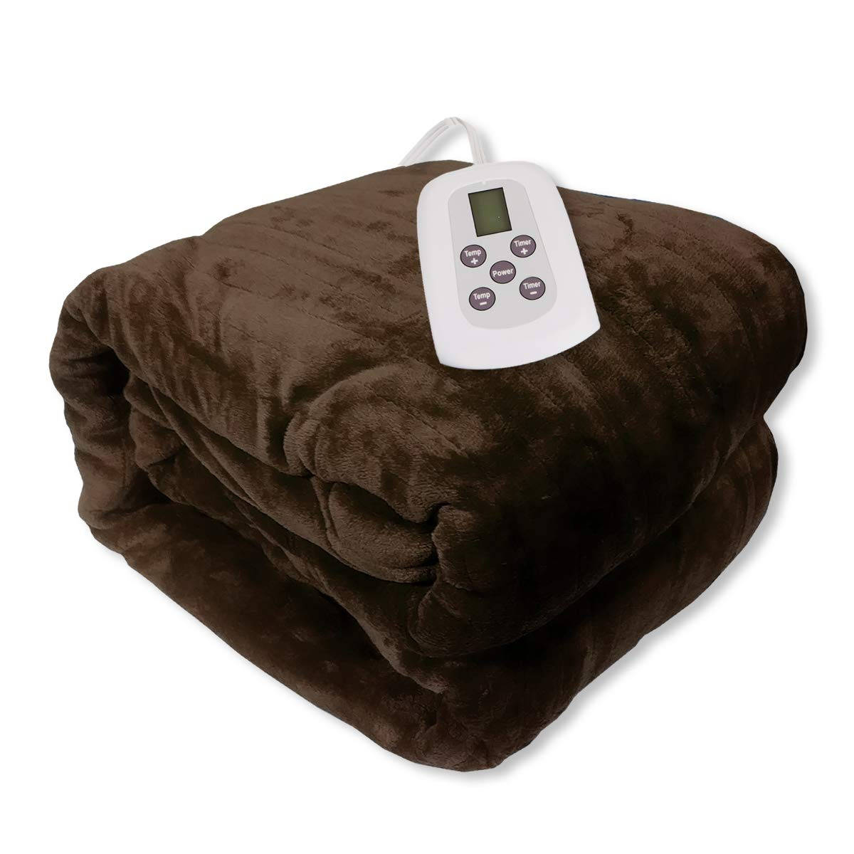 Cream Westerly Twin Size Microplush Electric Heated Blanket with Digital Controller