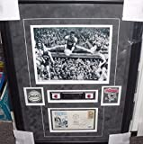 """Oscar """"BIG O"""" Robertson Signed FDC Cover Framed Photo Collage BEARCATS BUCKS - PSA/DNA Certified - NBA Autographed Miscellaneous Items"""