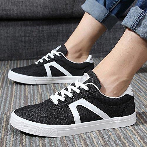 Nero scarpe uomo estive Scarpe traspiranti scarpe di tela scarpe uomo scarpe tendenza studenti uomo da WFL da scarpe casual da di qBRCtwwA