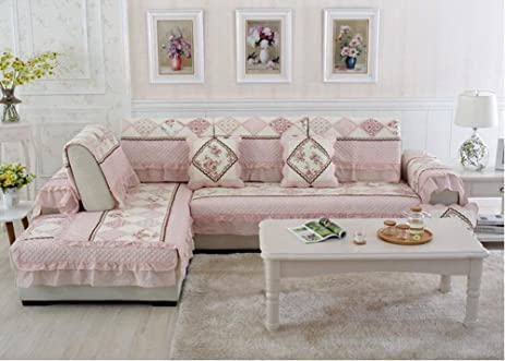 Amazon Star Heaven Twill Floral Quilted Sofa Cover Armrest