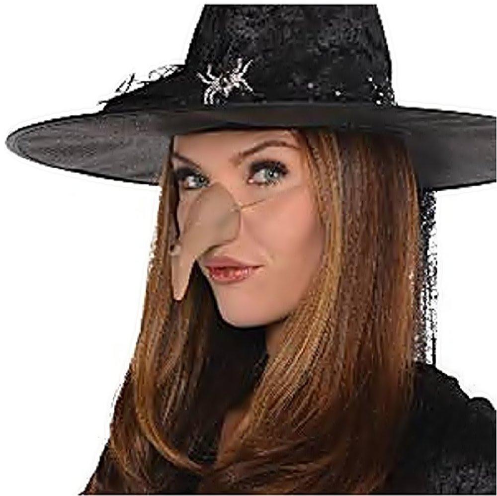 Teatro Megera Mujer Ni/ña Halloween Carnaval Adultos Maga Rosa Inception Pro Infinite Nariz de Silicona para Disfraz Bruja Traje