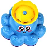 NUOLUX Bath Toy Spray Water Octopus Toys Floating Rotate Bathtub Shower Pool Bathroom Toy Water Pump Electronic Sprayer For Baby Toddler Infant Kid Party