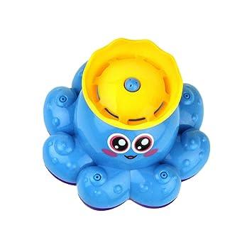 TOYMYTOY Juguete de baño Spray de agua pulpo juguetes flotante giran bañera Ducha baño de la