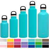 Simple Modern Ascent Water Bottle - Narrow Mouth, Vacuum Insulated, Double Wall, 18/8 Stainless Steel Powder Coated - 5 Sizes, 30+ Colors