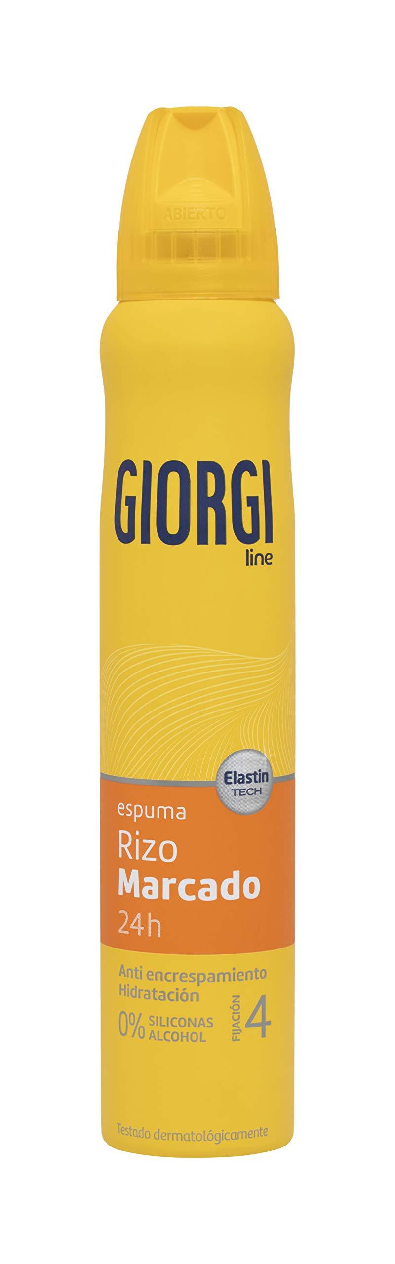 GIORGI Line - Espuma Rizo Marcado 24h, Anti Encrespamiento e Hidratación, 0% Siliconas y Alcohol, Fijación 4 - 210 ml