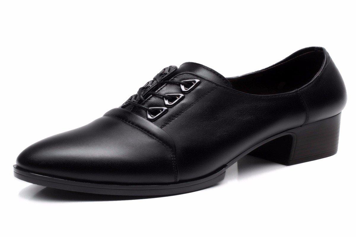 HBDLH-Damenschuhe Im Frühjahr Die Echtes Leder Ist Dicht und und und Dick mit Einem Einfachen Runden Kopf Spitzen und Einzelne Schuhe. 2ae4d0