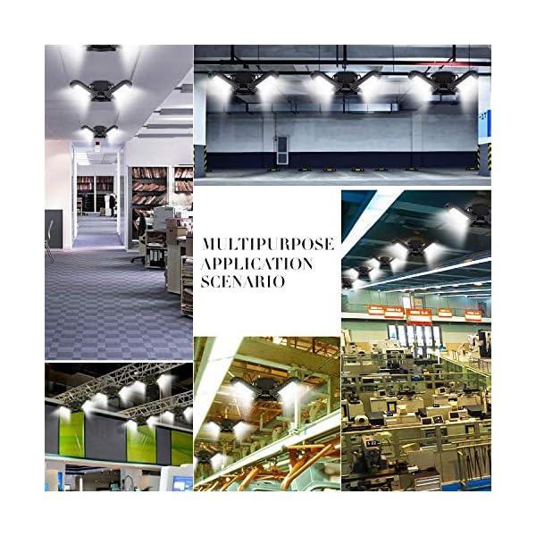 Garage Lights, LED Deformable Garage Light, Ultra-Bright Shop Lightning with 3 Adjustable Panels, Garage Ceiling Light… 6