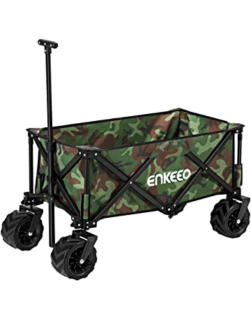 ENKEEO Folding Garden Cart Utility Pull Wagon Collapsible Trolley with  Large Capacity fe2096aab2dcd
