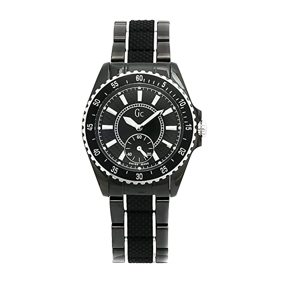 Guess Collection GC Sport Class Lady 33003L1 - Reloj analógico de mujer de cuarzo con correa de acero inoxidable negra - sumergible a 100 metros: Amazon.es: ...