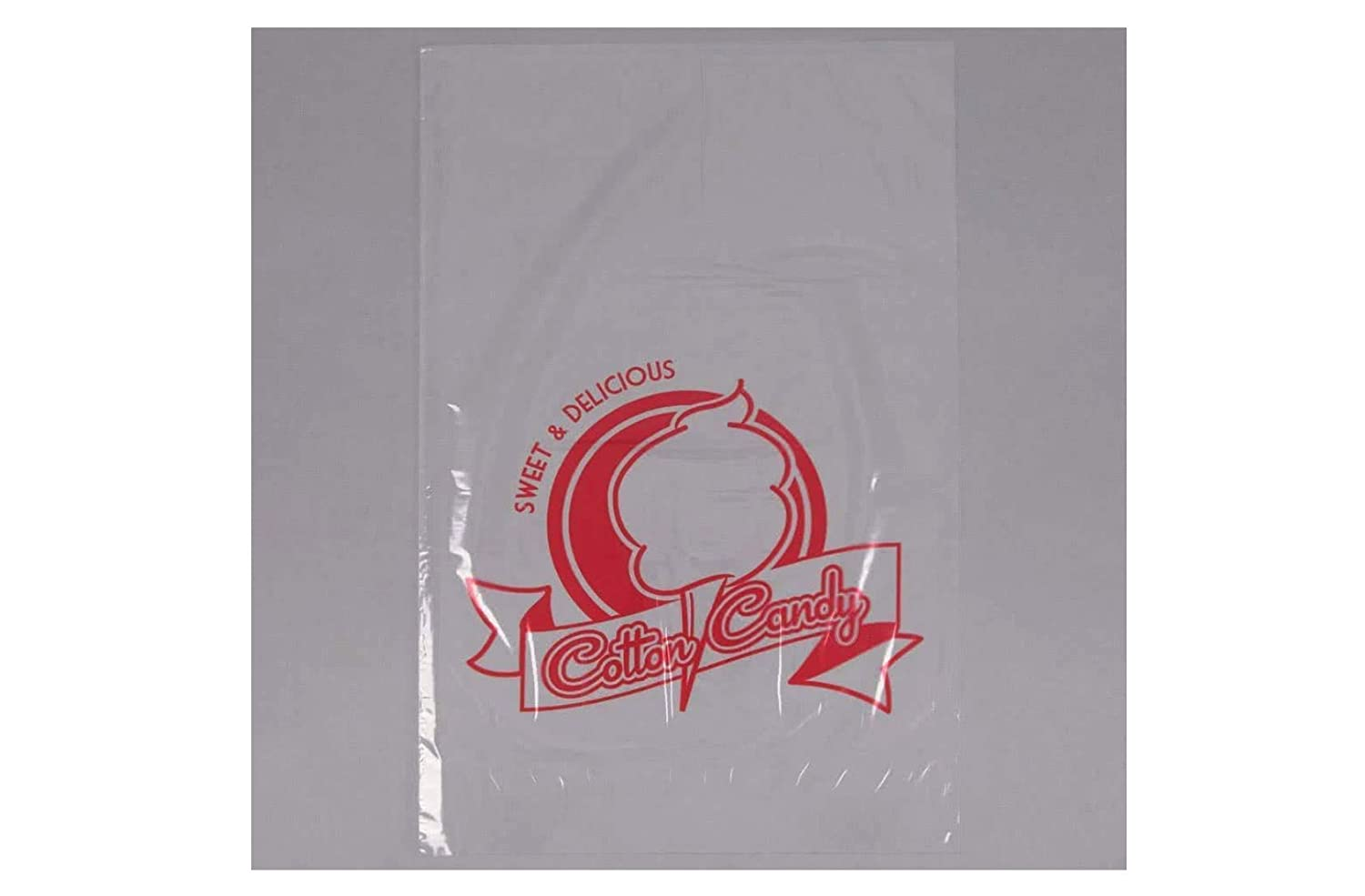 Carnival King 202502504 11 1//2 x 19 1//2 Printed Cotton Candy Bag 100//Pack