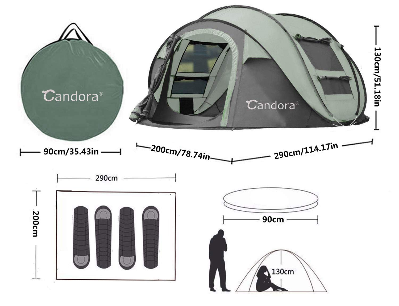 candora pop up tent instructions