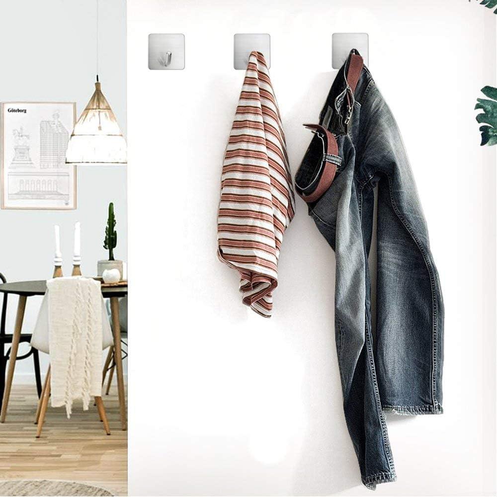 Selbstklebende Haken Selbstklebend Edelstahl Kleiderhaken Handtuchhaken Wandhaken,Bad und K/üche Handtuchhalter Kleiderhaken,Wasserdicht ohne Bohren-8 St/ück