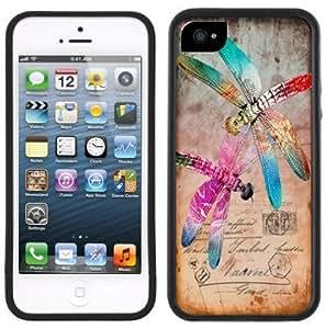 LJF phone case Dragonfly Dragonflies Vintage Handmade iphone 6 plus 5.5 inch Black Case