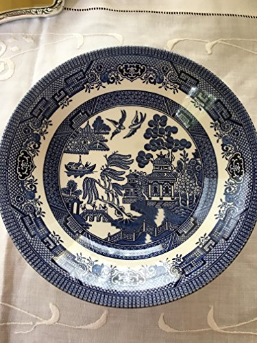 - Churchill Made in England Blue Willow Pattern 8 Inch Coupe Soup Cereal Bowl
