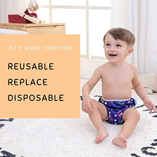 wiederverwendbar einstellbar f/ür Baby-Schwimmunterricht Baby-Shorts Windeln 0-3 Jahre wuayi  Baby Schwimmwindeln